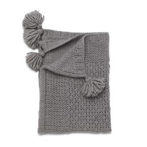 NEW Kenzi Living Tassel Blanket - Grey Free Shipping Children Baby