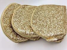 Lot of 3 : Estee Lauder Cosmetic Makeup Bag / Glitter Gold