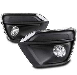 FOR 17-19 CHEVROLET TRAX BUMPER DRIVING FOG LIGHT LAMP CHROME W/BEZEL LEFT+RIGHT