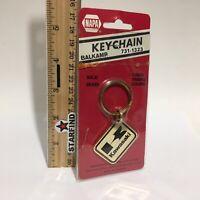 Napa Balkamp KAWASAKI Keychain VINTAGE Brass Enamel Metal Key Chain Ring SEE...