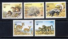 Lesotho Africa 1977 WWF wild animal set mnh vf complete 68.75