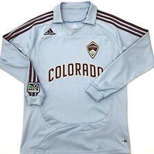 Adidas Colorado Rapids Mens Long Sleeve Goalie Jersey Blue Adult Size Small. B6