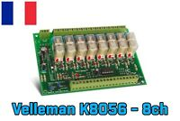Velleman K8056 Kit carte relais 8 canaux à assembler 12V