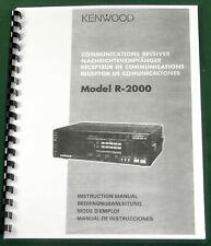 Kenwood R-2000 Instruction Manual -  Premium Card Stock Covers & 28 LB Paper!