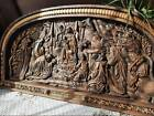 Holy family Nativity WOOD CARVED CHRISTIAN ICON Wall picture Birth of Christ