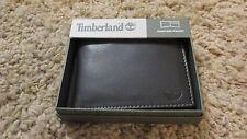 TIMBERLAND Men Genuine Leather Passcase Bifold WALLET NIB Brown free shipping