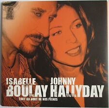 JOHNNY HALLYDAY & ISABELLE BOULAY - RARE CD SINGLE PROMO POCHETTE OUVRANTE