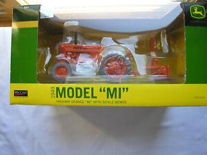 """SpecCast  #  JDM 225 1949 JOHN DEERE  Model """"MI"""" Highway Organge  w/Sickle Mower"""