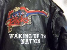VINTAGE anni'80 in Pelle Moto Giacca Da Motociclista Brando Taglia 2XL