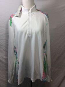 Adidas Women's 1/2 Zip Golf Pullover Resort Size XL Extra Large Thumbhole Sleeve