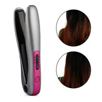 Portable Mini Hair Straightener Flat Iron USB Charging Wireless Cordless Curler