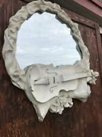 Whimsical 1960s Antique Plaster & Gesso Baroque Mirror Attributed Bankowsky