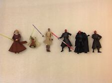 Star Wars Yoda Spinning Attack, Mace Windu Zillo, Saesee Tiin, Darth Maul x 3