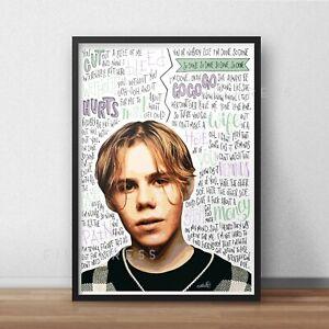 The Kid Laroi Poster / Print / Wall Art A4 A3 A2 / Hip Hop / Rapper / F*CK YOU