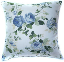 AF48a Grey+Blue Rose Flower Cotton Canvas Cushion Cover/Pillow Case *Custom