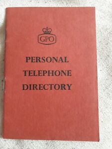 Vintage Retro Red GPO Personal Telephone Directory A5063