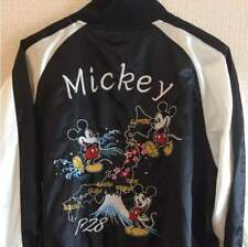 Disney Sukajan Jacket Japanese size M Color Black Made in Japan Free Sipping