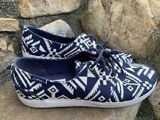 New Circa Shoes Skate Sneakers 12M/46 Excellent Condition Navy Cream Boho Retro