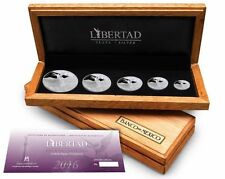 Mexico 2016 Mo Silver 5 coin Libertad Proof Set Mexican Coin Five Lucky COA #888