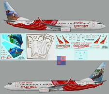 """1/144. Boeing B-737-800 """"Air India Express"""" VT-AXR,  decals by """"UP Rise"""" UR1442"""