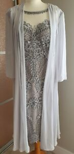 Silver Veni Infantino Mother Of The Bride/special Occasion Outfit Size:16