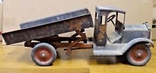 """Antique Large Dump Truck 26"""" Rare 1920's Pressed Steel"""
