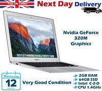 "Apple MacBook Air 11.6"" Intel C2D 1.40GHz 2GB RAM 64GB SSD MacOS High Sierra"