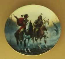 The Prideful Ones Village Markers Plate Native American Indian Chuck DeHaan