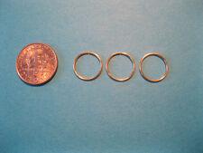 3 Gold Nose Rings Endless Hoops Earrings 12 mm