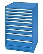 LISTA XSSC0900-0901 SC900 9-Drawer Counter Height Storage Cabinet, Standard Dept
