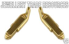 9ct YELLOW GOLD CURVED CUFFLINK CUFF LINK  JEWELLERY MAKING