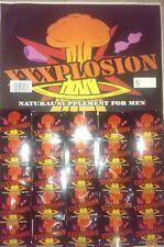 XXXPLOSION / 50 Pills & 2 Poster / Male Enhancement / New