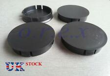 4x 60mm dia Black Wheel Rim Center Caps fit SEAT FORD VAUXHALL ALFA ROMEO OPEL