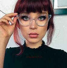 Vintage Retro Cat Eye Clear Demi Lens PinUp Rockabilly Eyeglasses Frames S  1404
