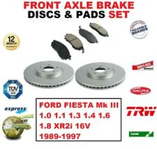 Para Ford Fiesta Mk III 1.0 1.1 1.3 1.4 1.6 1.8 XR2i 16V Discos de Freno
