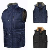 2018Mens Casual Zipper Down Jacket Waistcoat Multi-Pocket Thicken Fleece Vest A4