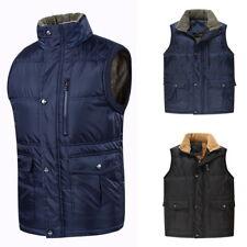 Mens Casual Zipper Down Jackets Vest Waistcoat Multi-Pocket Thicken Fleece Coats