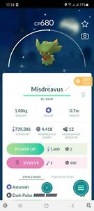 Pokemon Legendary Go Shiny Misdreavus Same Day Trade Or 30 Day
