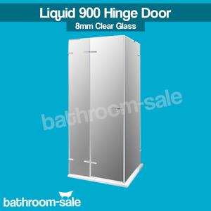 Liquid 900mm Bathroom Hinge Door Clear Plus Chrome - 8mm   RRP: £829