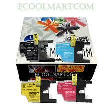 4-PACK High-Yield LC75 Ink Cartridge Set for Brother MFC J835DW Inkjet Printer