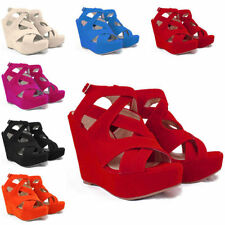 Strappy, Ankle Straps Wide (E) Synthetic Heels for Women