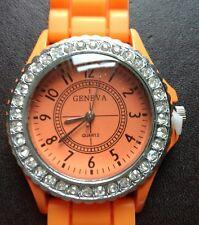 All'ingrosso Nuovo di Zecca GENEVA Quatz cinturino orologio. Arancione.