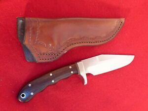Bob DeFarges USA custom handmade full tang fixed blade mint knife & sheath
