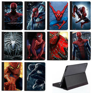 Superhero Spiderman Protective PU Leather Tablet Stand Case Cover For Apple iPad