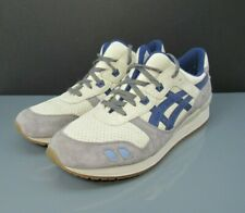 Asics Gel Lyte Men's Sneakers Shoes Size 13 White Grey Blue H64KK Leather Suede