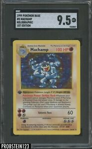 1999 Pokemon 1st Edition Base #8 Machamp HOLO Variation SGC 9.5 MINT+