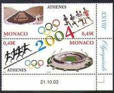 Monaco 2004 Olympics/Olympic Games/Sports/Stadia/Buildings 2v s-t pr (n38403)