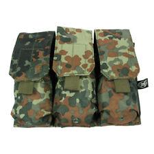 ARMY MILITARY TRIPLE MAGAZINE AMMO POUCH M4/M16 MOLLE MODULAR BW FLECKTARN CAMO