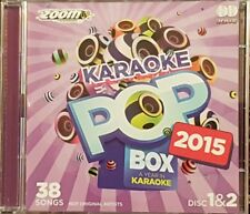 ZOOM KARAOKE CDG  POP BOX 2015  DISCS 1 & 2      38 SONGS 2 DISCS
