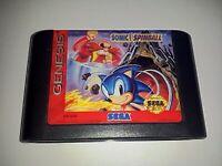 Genuine Sonic Spinball Sega Genesis Game Cart *NTSC-U* 😼